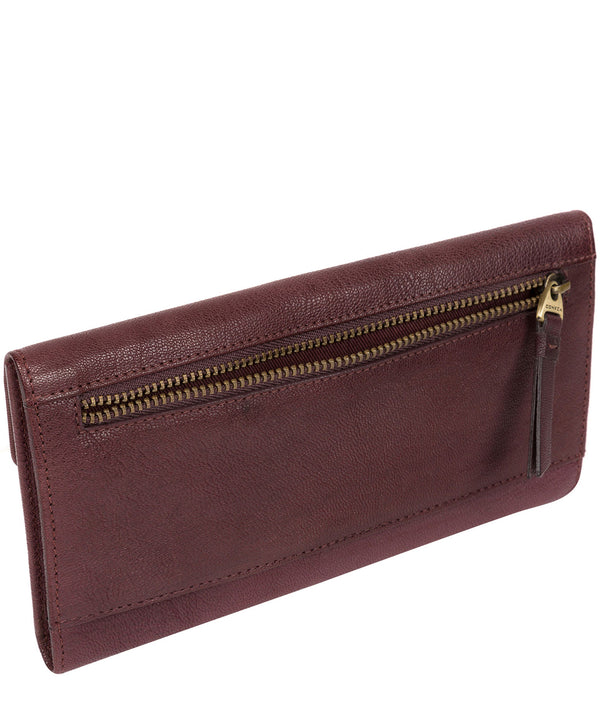 'Fion' Plum Leather Tri-Fold Purse image 3