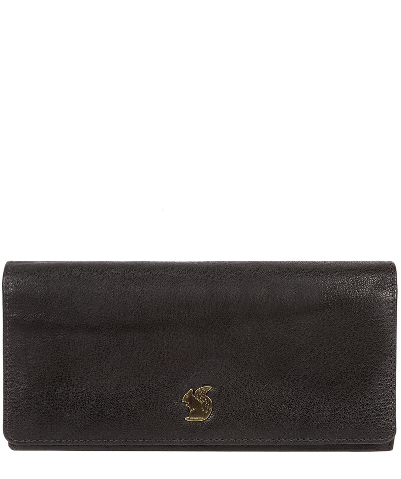 'Bloom' Black Leather Purse Pure Luxuries London