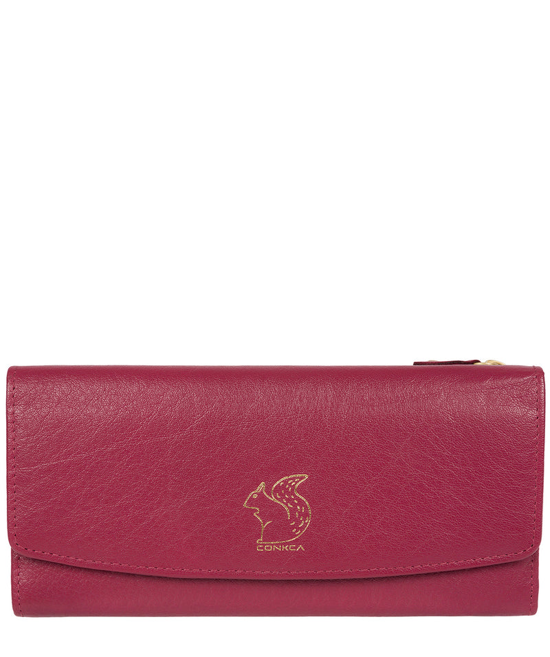 'Ollie' Orchid Tri-Fold Leather Purse image 1