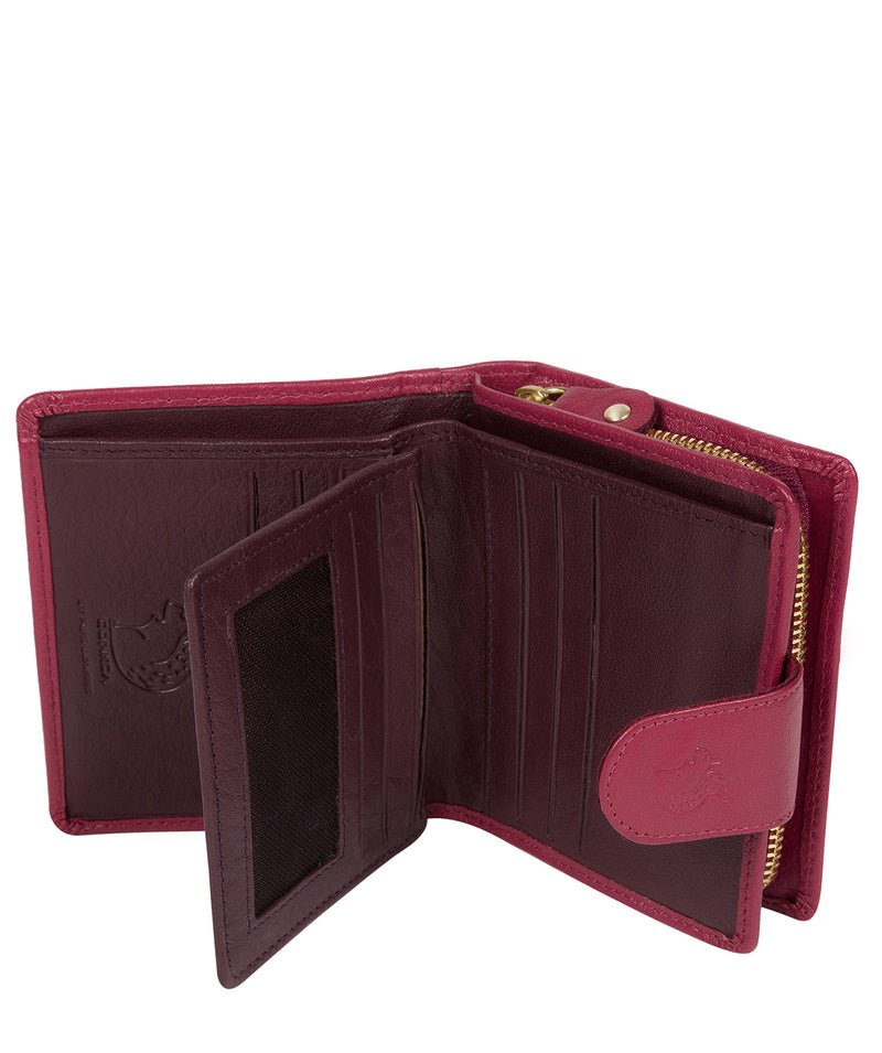 'Azaria' Orchid Bi-Fold Leather Purse image 3