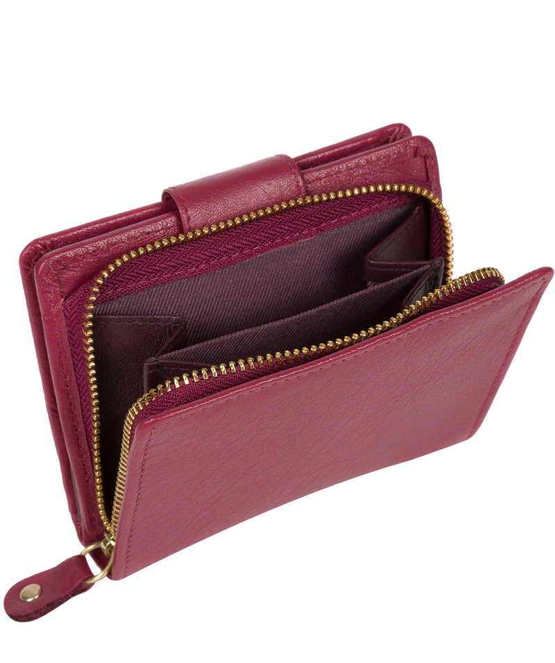'Azaria' Orchid Bi-Fold Leather Purse image 4