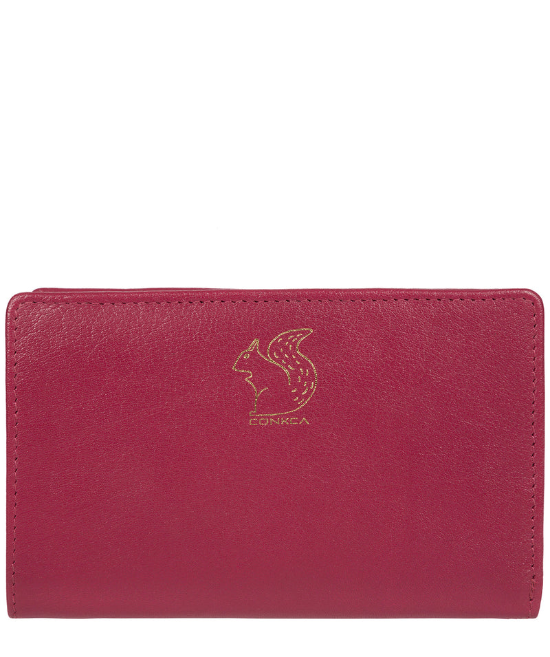 'Fran' Orchid Bi-Fold Leather Purse image 1