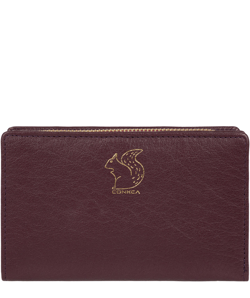 'Fran' Plum Bi-Fold Leather Purse image 1