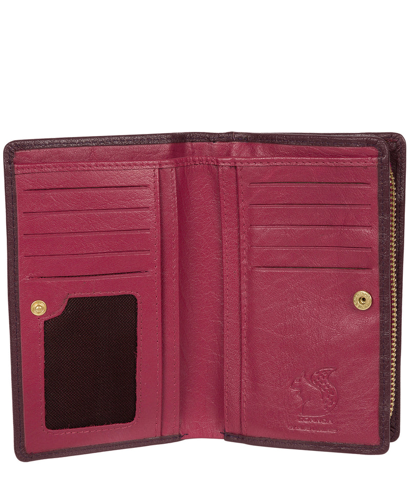 'Fran' Plum Bi-Fold Leather Purse image 3