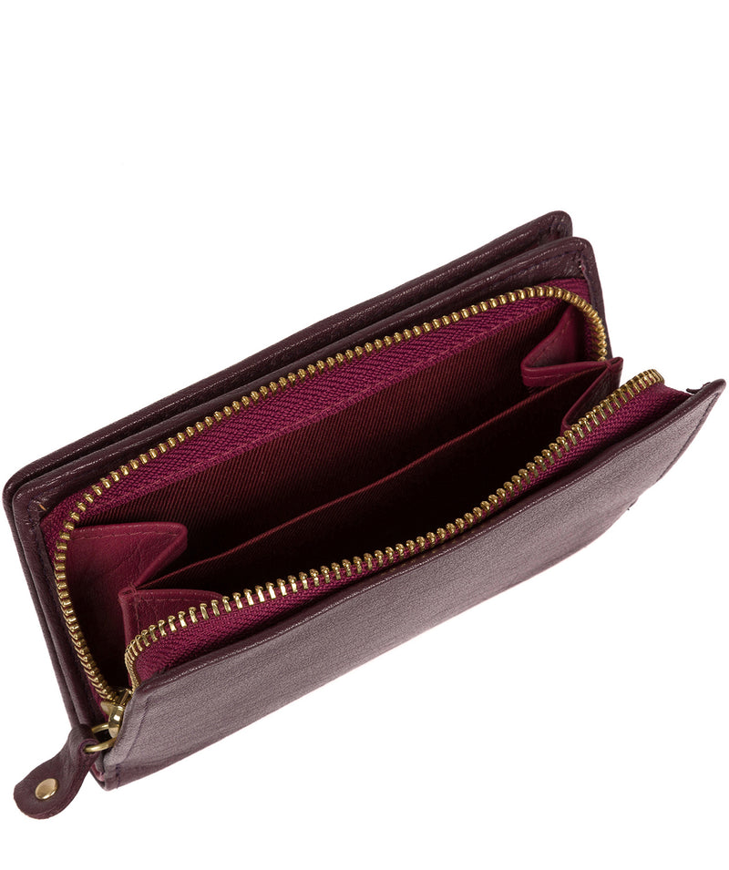 'Fran' Plum Bi-Fold Leather Purse image 4