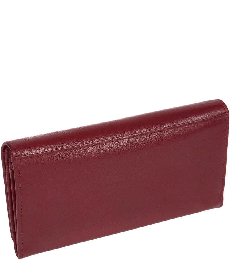 'Arabella' Deep Red Tri-Fold Leather Purse image 4