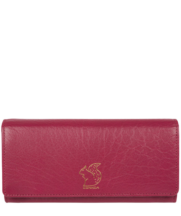 'Arabella' Orchid Tri-Fold Leather Purse image 1