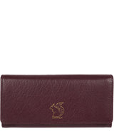 'Arabella' Plum Tri-Fold Leather Purse image 1