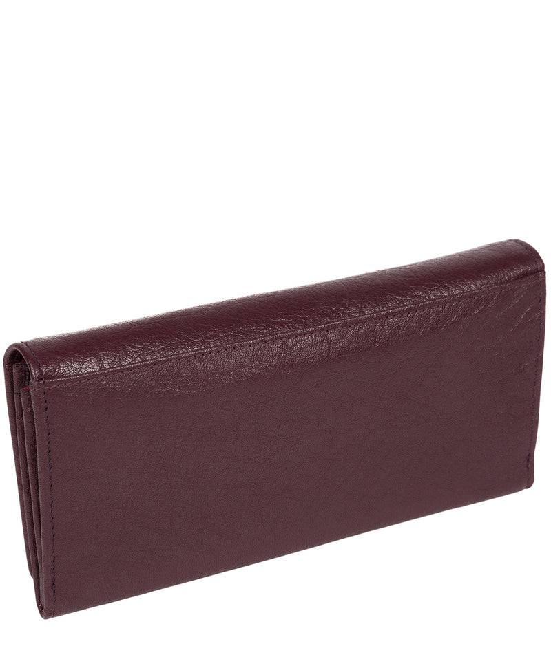 'Arabella' Plum Tri-Fold Leather Purse image 4