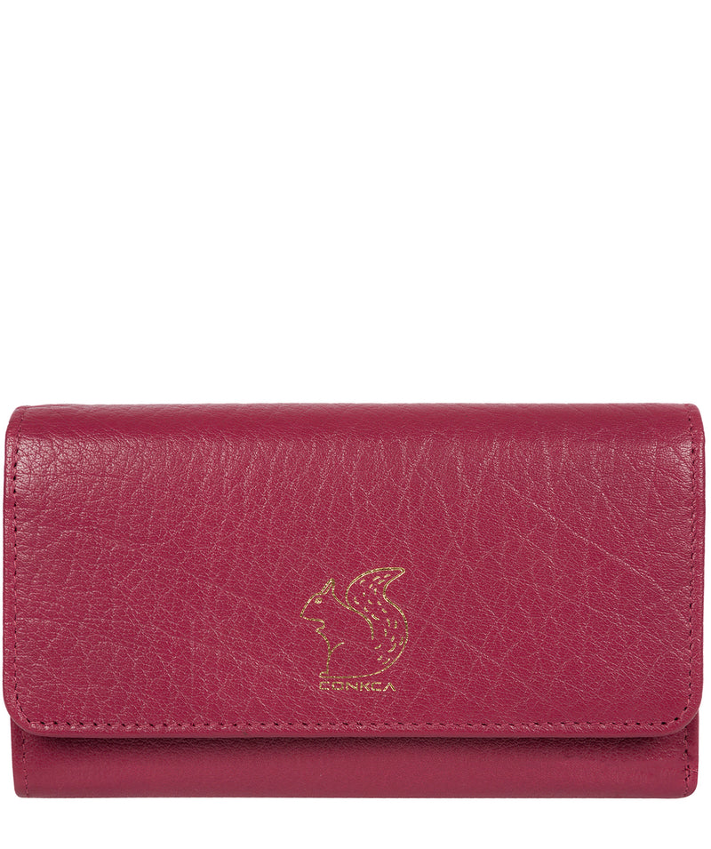'Colleen' Orchid Tri-Fold Leather Purse image 1