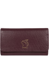 'Colleen' Plum Tri-Fold Leather Purse image 1