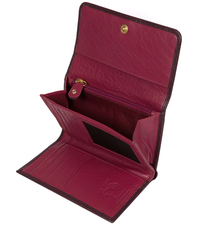'Colleen' Plum Tri-Fold Leather Purse image 3