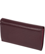 'Colleen' Plum Tri-Fold Leather Purse image 4