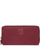 'Aisling' Deep Red Zip Round Leather Purse image 1