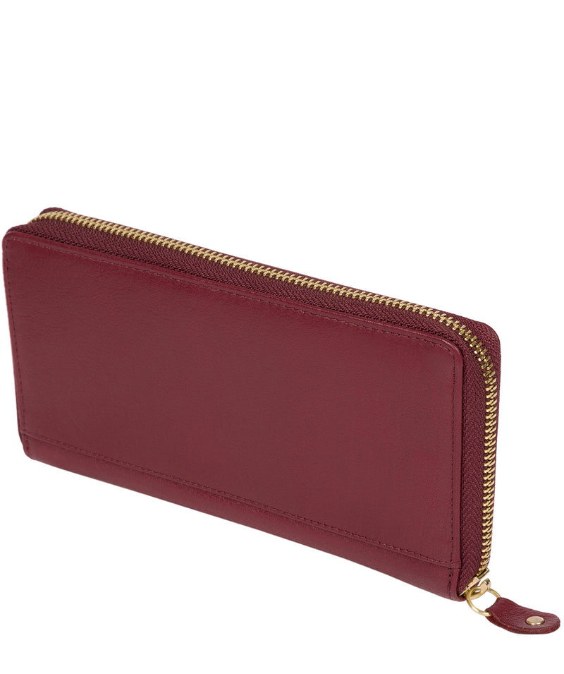 'Aisling' Deep Red Zip Round Leather Purse image 4