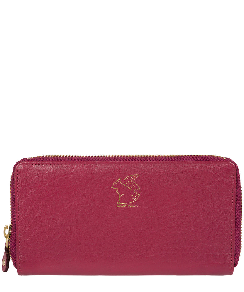 'Aisling' Orchid Zip Round Leather Purse image 1