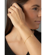 'Sandie' 9ct yellow gold twist curb chain and star bracelet	 image 2