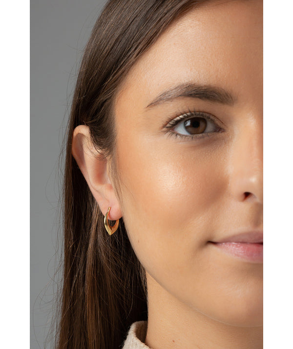 'Diana' 9ct Yellow Gold Creole Earrings