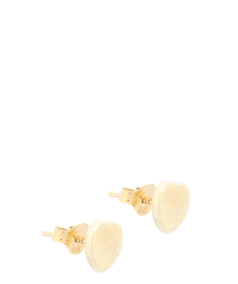 Gift Packaged 'Calista' Diamond Cut 9ct Yellow Gold Heart Earrings