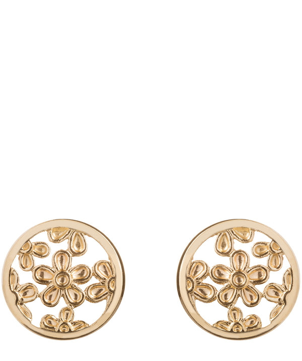 'Cadence' 9ct yellow gold filigree stud earrings image 1