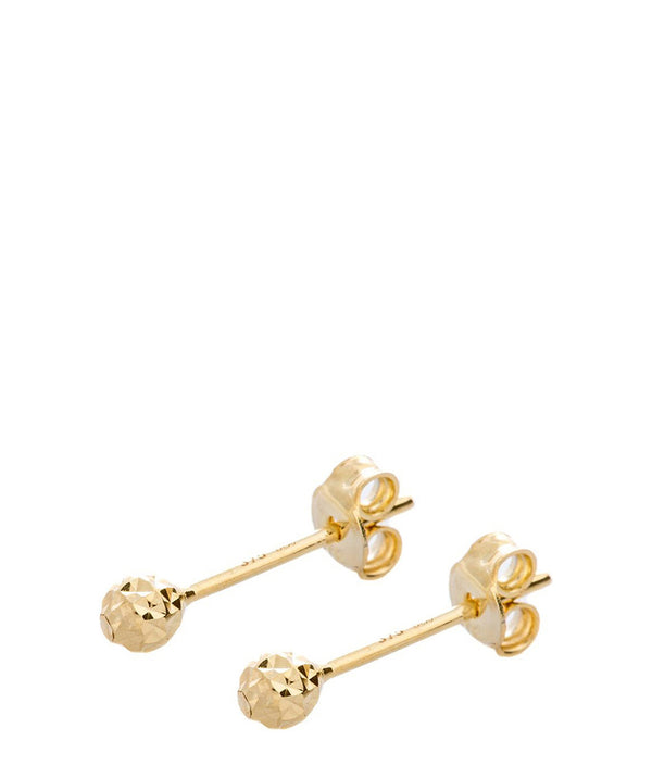 'Lily' 9ct Yellow Gold Diamond Cut Stud Earrings image 1