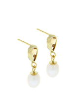'Alize' 9-carat yellow gold, citrine & pearl earrings