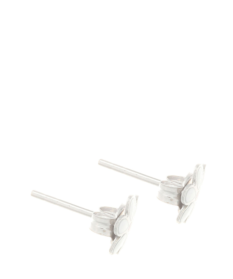 'Elspeth' 9ct White Gold Small Daisy Stud Earrings image 4