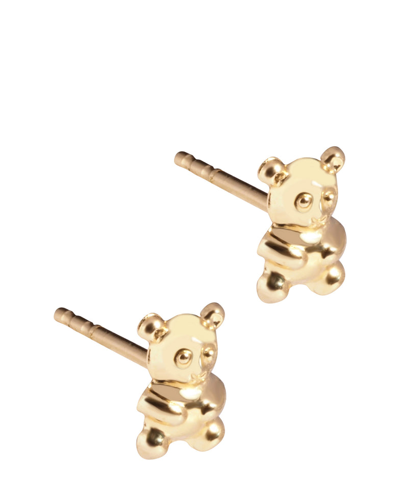 'Millie' 18ct Yellow Gold Teddy Bear Stud Earrings image 1