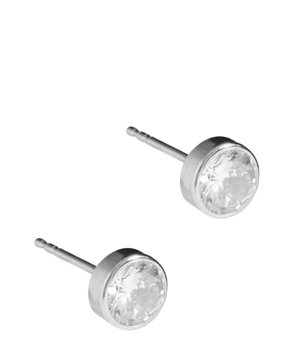 'Lisa' White Gold & Cubic Zirconia Stud Earrings  image 1