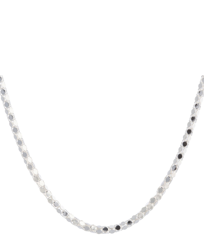 Gift Packaged 'Lillian' Sterling Silver Round Mirror Chain Necklace