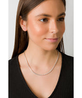 'Lillian' Sterling Silver Round Mirror Chain Necklace image 2