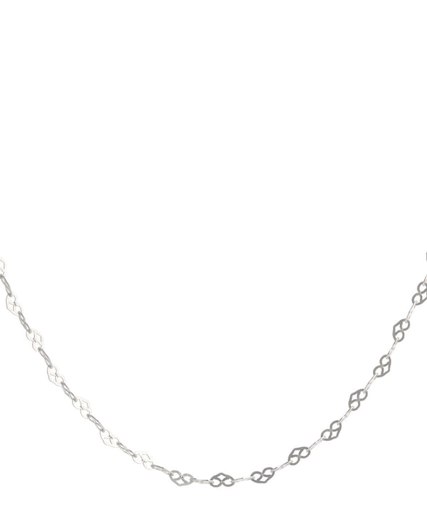 'Lindsey' 30-Inch Sterling Silver Heart Link Necklace