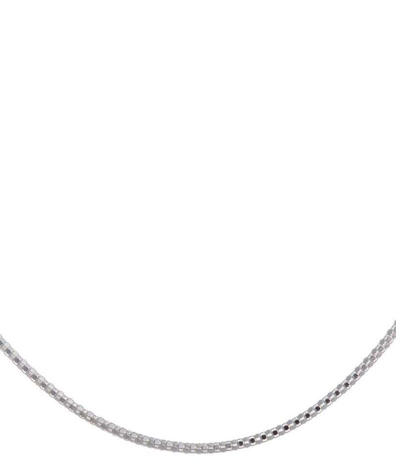 'Lizette' 41cm Sterling Silver Mirror Necklace