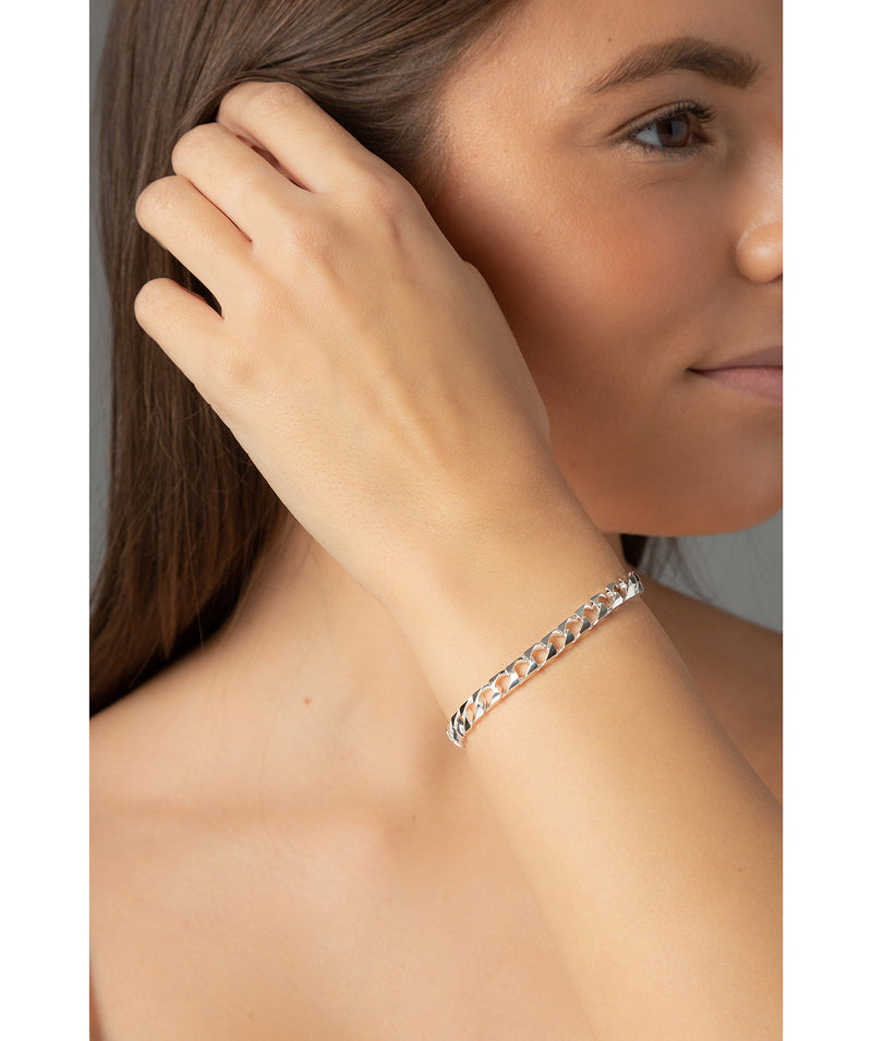 'Adelia' Sterling Silver Flat Chain Bracelet image 2