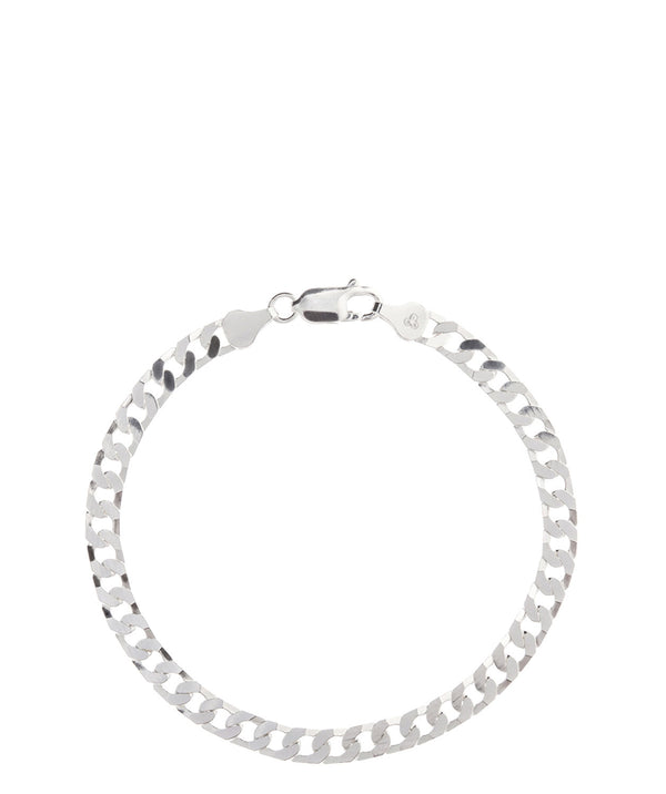 'Patricia' Sterling Silver Flat Chain Bracelet