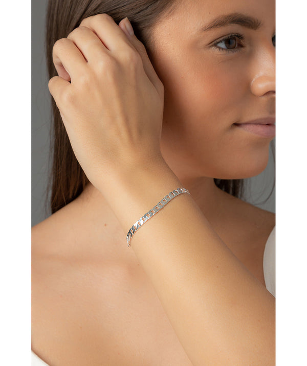 'Patricia' Sterling Silver Flat Chain Bracelet image 2