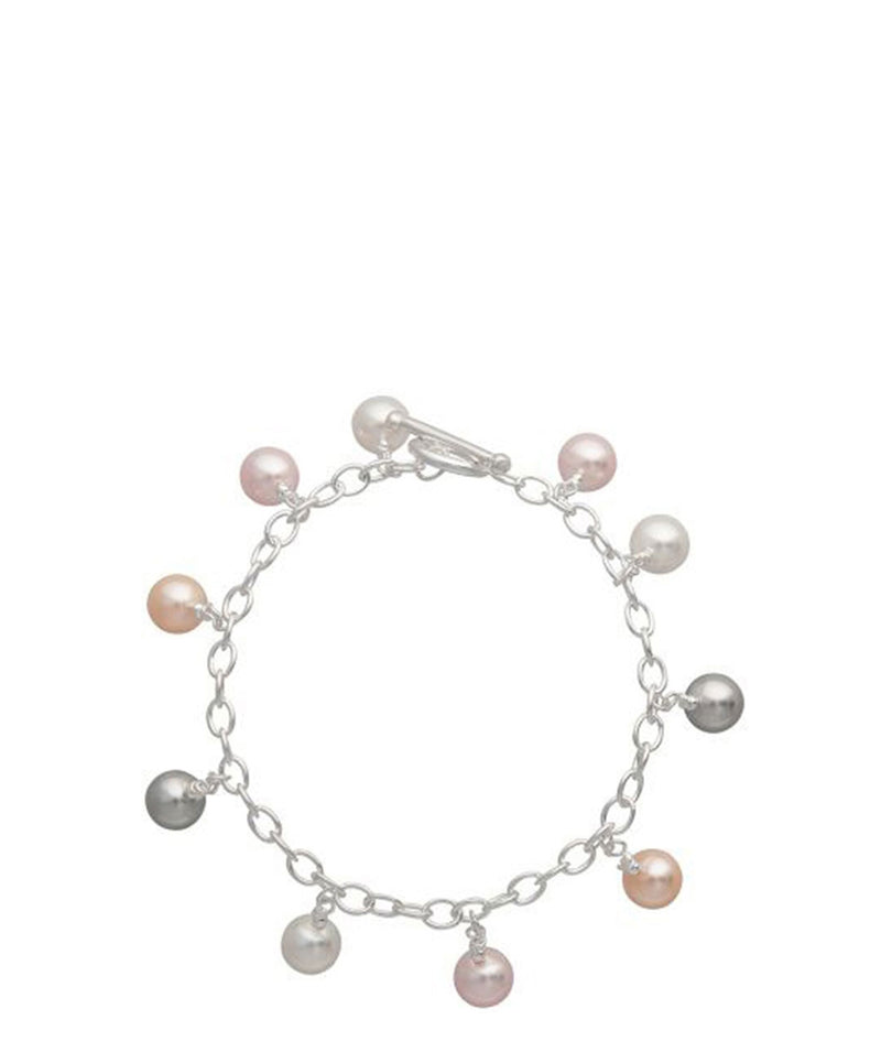Gift Packaged 'Samaira' Multicoloured Pearl & Sterling Silver Bracelet