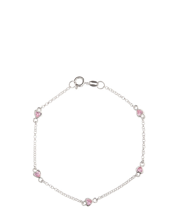 Gift Packaged 'Hallie' Sterling Silver & Cubic Zirconia Bracelet