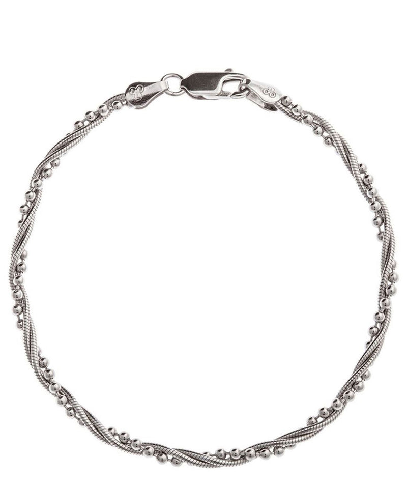 Gift Packaged 'Haylee' Rhodium & Sterling Silver Bracelet