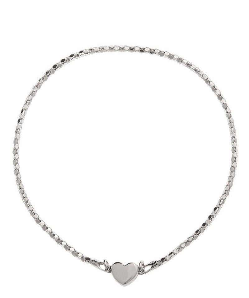 Gift Packaged 'Helen' Sterling Silver Magnetic Heart Bracelet
