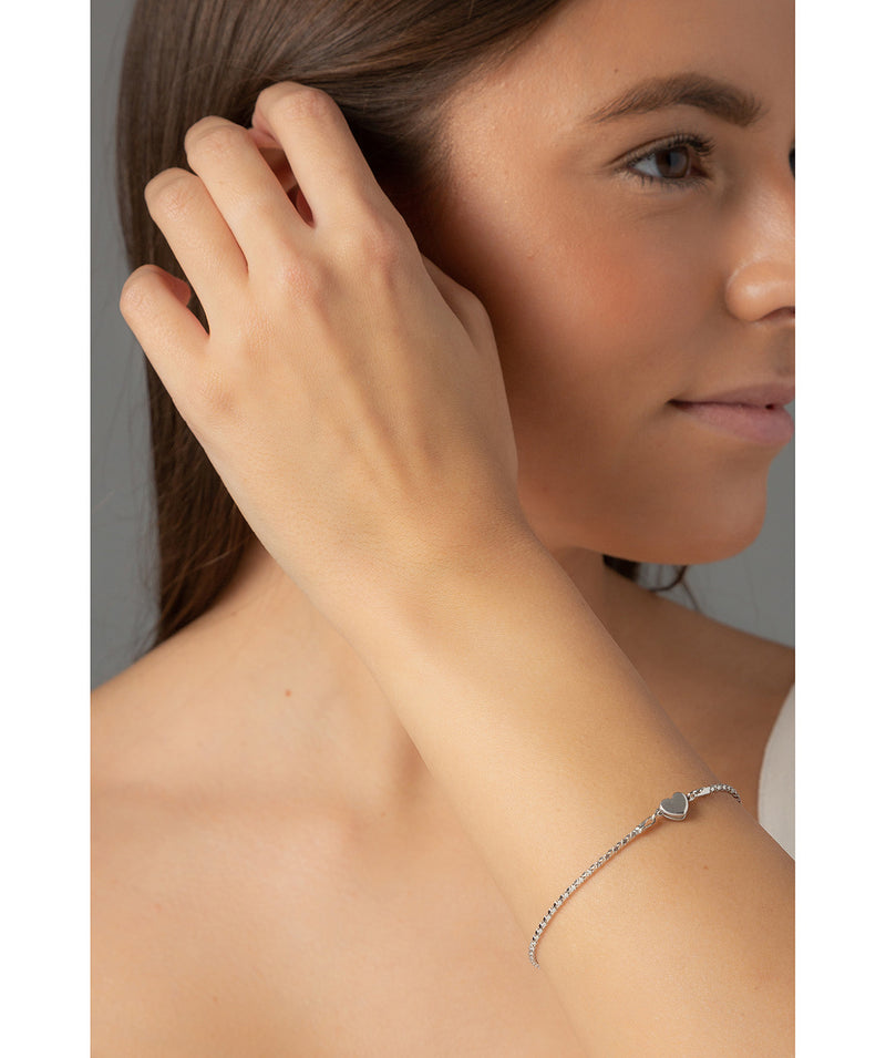 'Helen' Sterling Silver Magnetic Heart Bracelet Pure Luxuries London