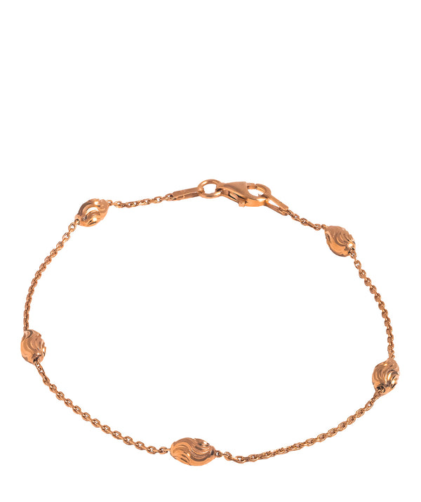 'Lakyta' Rose Gold Plated Diamond-Cut Bracelet
