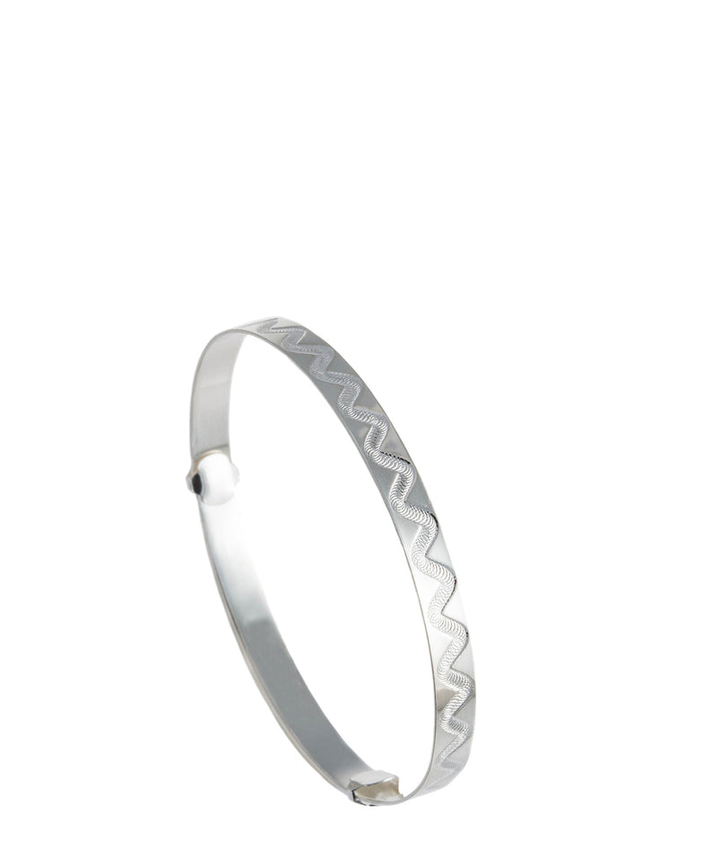 'Rhianna' Engraved Sterling Silver Bangle image 1