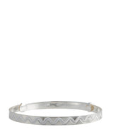'Rhianna' Engraved Sterling Silver Bangle image 4
