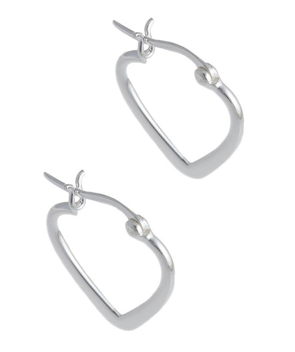 'Rowan' Sterling Silver Heart Earrings image 1