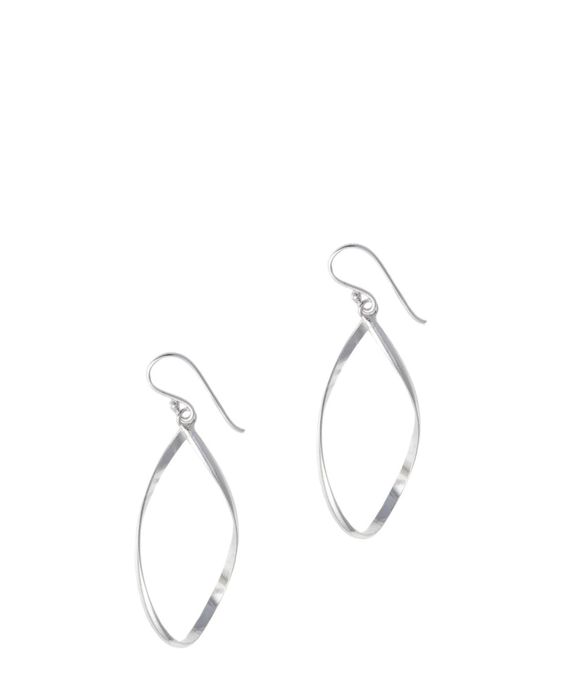 Gift Packaged 'Daniela' Rhodium Plated Teardrop Earrings
