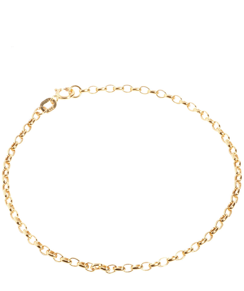 'Achelois' 9ct Yellow Gold Diamond Cut Oval Bracelet Pure Luxuries London