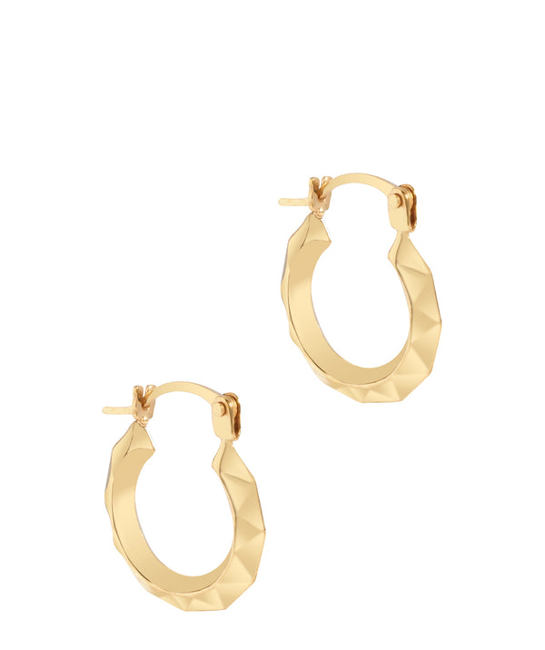 'Veronique' 9ct Yellow Gold Patterned Creole Earrings image 1