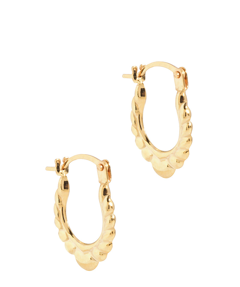 'Hati' 9ct Gold Creole Heart Earrings image 1