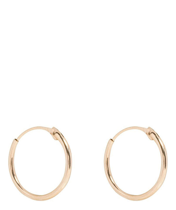 Gift Packaged 'Tamar' 9ct Yellow Gold Hoop Earrings